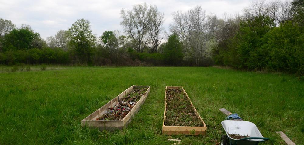 Наш первый огород почти готов.